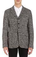 Comme Des Garçons Metallic Tweed Sport Coat - Lyst