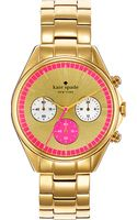 Kate Spade Seaport Goldplated Chronograph Watch - Lyst