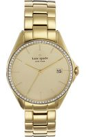 Kate Spade Seaport Stainless Steel Watch Gold - Lyst
