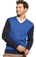 Tommy Hilfiger American Argyle Vneck Sweater - Lyst