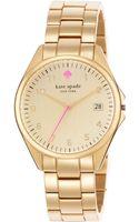Kate Spade New York Womens Seaport Grand Goldtone Bracelet Watch 38mm - Lyst