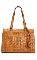 Brahmin La Scala Leather Tote - Lyst