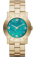 Marc By Marc Jacobs Womens Amy Goldtone Stainless Steel Bracelet Watch 36mm First At Macys - Lyst