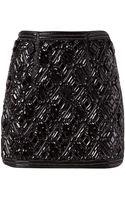 Balmain Beaded Diamond Skirt - Lyst