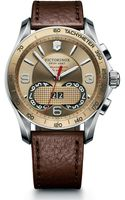Victorinox Classic Chronograph Watch with Leather Strap Brown - Lyst