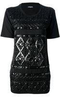 Balmain Embellished Tshirt - Lyst