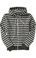 Old Navy Striped Zipfront Hoodies - Lyst
