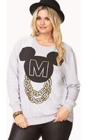 Forever 21 Streetchic Mickey Mouse Sweatshirt - Lyst