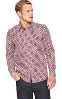Ted Baker Ted Baker Ted Baker Ls Large Print Shirt - Lyst