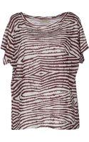 Ganni Short Sleeve Tshirt - Lyst