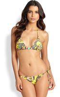 Onda De Mar Swim Wildprint Bikini Top - Lyst