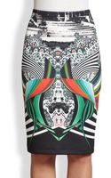 Clover Canyon Swirl Scarf Neoprene Skirt - Lyst