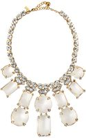 Kate Spade Opening Night Statement Necklace Clear - Lyst
