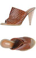 Fendi Highheeled Sandals - Lyst