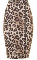 Lipsy Kardashian Animal Print Zip Pencil Skirt - Lyst