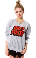 Obey The Posted Crewneck - Lyst