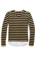 Tommy Hilfiger Striped Knit To Woven Top - Lyst
