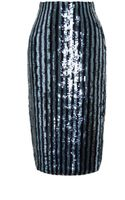 Marc Jacobs Sequined Striped Pencil Skirt - Lyst