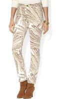 Lauren by Ralph Lauren Feather Print Skinny Jeans - Lyst