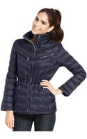 Michael Kors Michael Packable Quilted Puffer Coat - Lyst