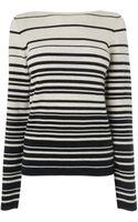 Jaeger Irregular Stripe Sweater - Lyst
