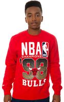 Mitchell & Ness The Chicago Bulls Nba Finals Championship Sweatshirt - Lyst