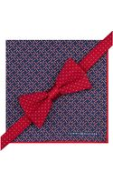 Tommy Hilfiger Red Dot Bow Tie Candy Cane Pocket Square Set - Lyst