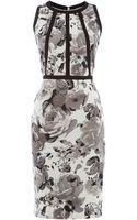 Untold Pencil Skirt Racer Neck Dress - Lyst