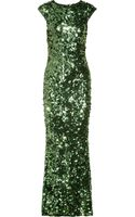 Alice + Olivia Gigi Sequined Gown - Lyst