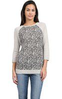 Autumn Cashmere Leopard Print Raglan Sweater - Lyst