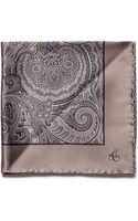 Canali Paisley Silk Pocket Square - Lyst