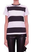 Emanuel Ungaro Cotton Tshirt Polka Dots and Stripes - Lyst