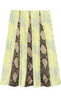 Erdem Jemima Python print Satin Lace and Crepe Skirt - Lyst