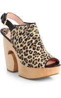 Isa Tapia Stefania Wooden Wedge Clogs - Lyst