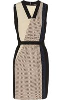 Raoul Abstract Colorblock Silk Dress - Lyst