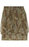 Suno Leopard-print Silk-chiffon Skirt - Lyst
