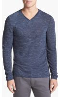 Vince Camuto Long Sleeve Vneck Tshirt - Lyst