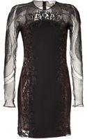 Emilio Pucci Wool Silk Sheer Panel Dress - Lyst