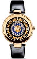 Versace Mystique Foulard Round Rose Gold Pvd Watch - Lyst