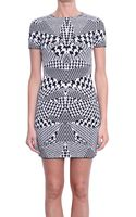 McQ by Alexander McQueen Pied De Poule Jersey Dress - Lyst