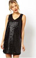 Asos Oversize Sequin Ovoid Dress - Lyst