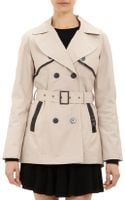 Barneys New York Doublebreasted Trench Coat - Lyst