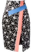 Emanuel Ungaro Floral Print Pencil Skirt - Lyst