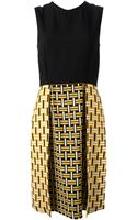 Fendi Bi Colour Sleeveless Dress - Lyst