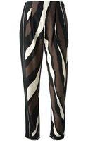 Fendi Striped Straight Leg Trouser - Lyst