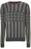 Fred Perry All Over Pattern Jumper - Lyst