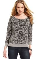Guess Leopard Print Sweater - Lyst