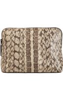 3.1 Phillip Lim Snake Skin 31 Minute Cosmetic Bag - Lyst