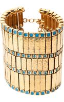 Aurelie Bidermann Gold Plated Layered Bracelet - Lyst