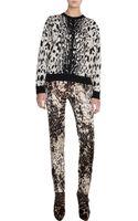 Lanvin Leopard Crew Neck Sweater - Lyst